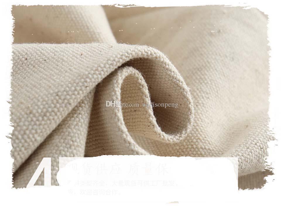 12 أوقية سميكة عادي القطن قماش وسادة القضية الطبيعية الخفيفة العاج غطاء وسادة وسادة 18 * 18in غطاء مع البريدي مخفي