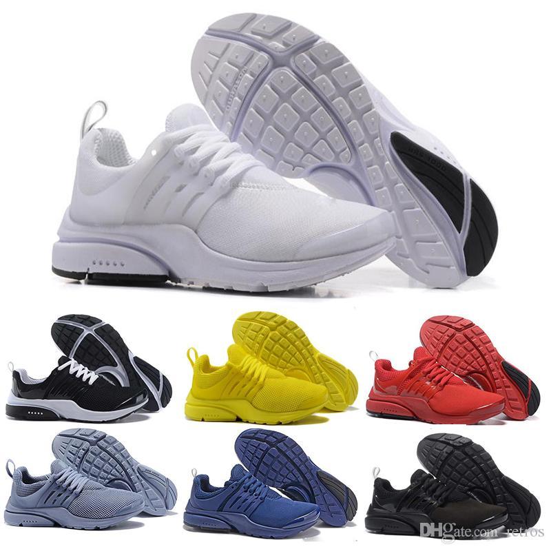 differently 160b3 146e9 Großhandel Nike Air Presto PRESTO 5 Laufschuhe Herren Damen Gelb Dreifach Schwarz  Weiß Rot Blau Prestos Ultra BR QS Outdoor Jogging Sport Turnschuhe US 5.5  ...