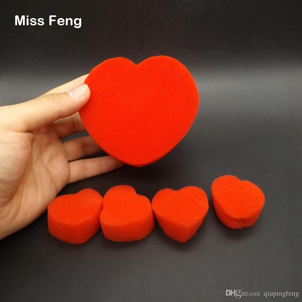 Fun Magic Sponge Heart Close-up Magic Tricks Products Toys For Children Educational Teaching Toy Kid Game