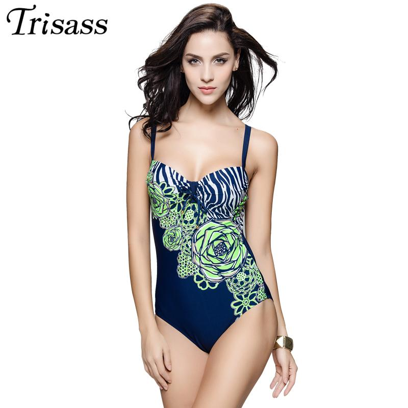 1bfbf2817d 2019 2017 New One Piece Swimsuit Floral Print Swimwear Women Vintage  Monokini Bathing Suits Maillot De Bain Hot Springs Plus Size 7XL From  Sogga