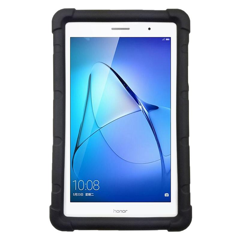 promo code d9c05 e8c1f MingShore For Huawei MediaPad T3 8.0 With Built-in Handstrap Silicone  Rubber Case Model For Huawei T3 8 KOB-L09/W09 Tablet Cover