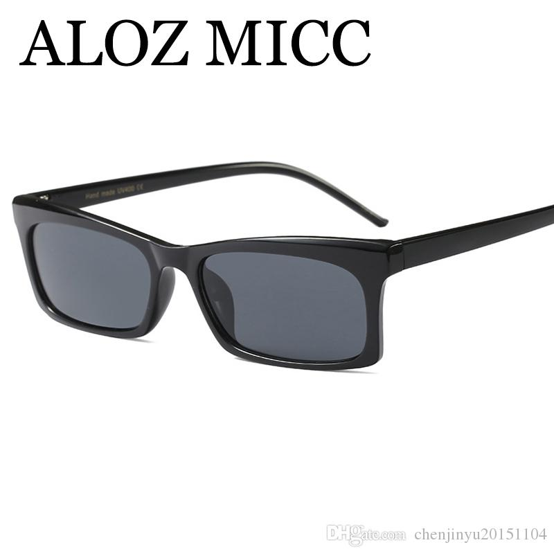 ALOZ MICC 2018 Fashion Square Sunglasses Women Men Brand Designer Retro  Black Red Frame Eyewear Lady Oculos UV400 A515 Cheap Prescription  Sunglasses ... ff9a2690ee
