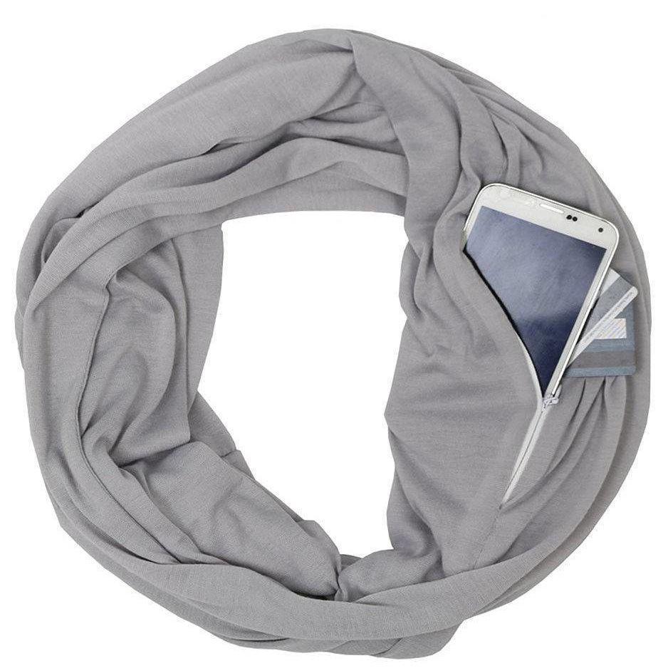 620ddabec867 Scarves for Women Lightweight Infinity Scarf Wrap with Hidden Zipper Pocket  Best Travel Scarfs On sale
