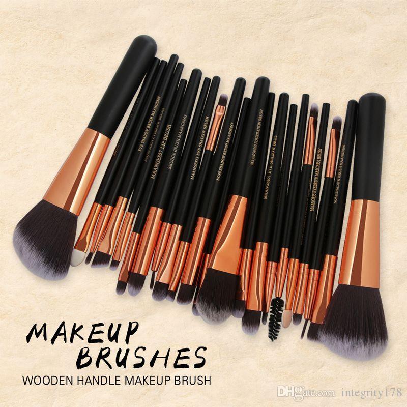 MAANGE Pro Cosmétique Maquillage Brosses Ensemble Blusher Ombre à Paupières Brow Lip Poudre Fondation Maquillage Kit de Brosse Beauté Essentials