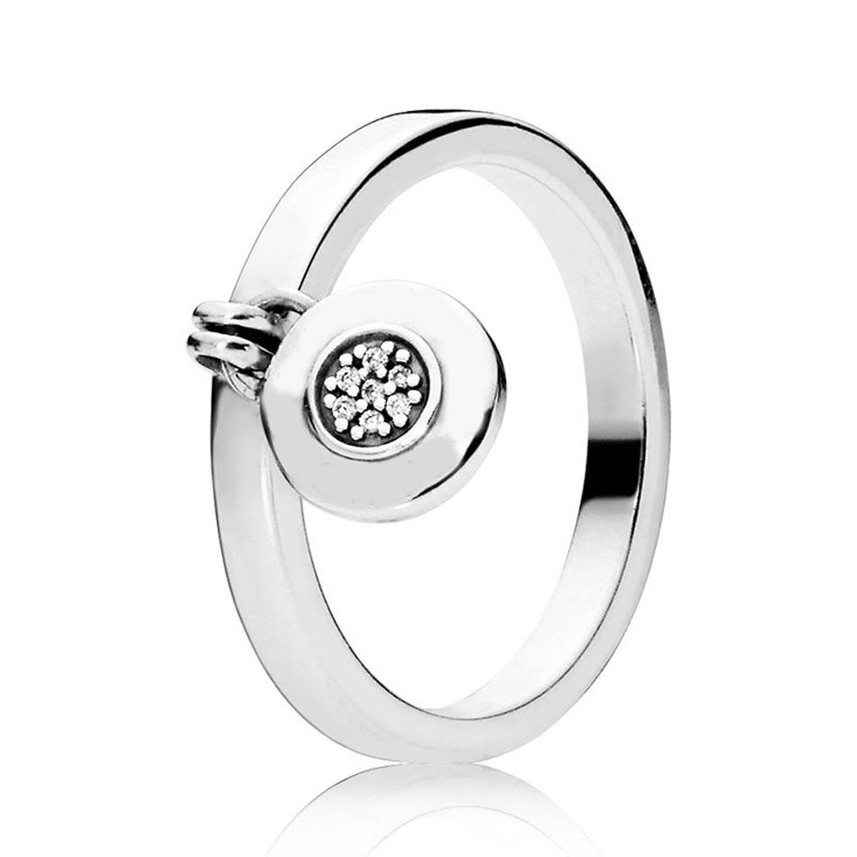 220a1dfc89 925 Sterling Silver Ring For Women Signature Dangle Ring Silver Girl ...
