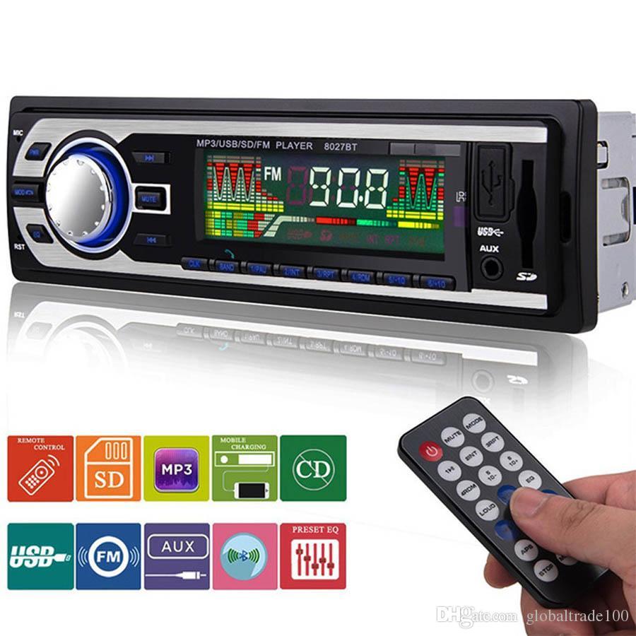 2018 new 8027bt 1 din car radio autoradio car audio stereo. Black Bedroom Furniture Sets. Home Design Ideas