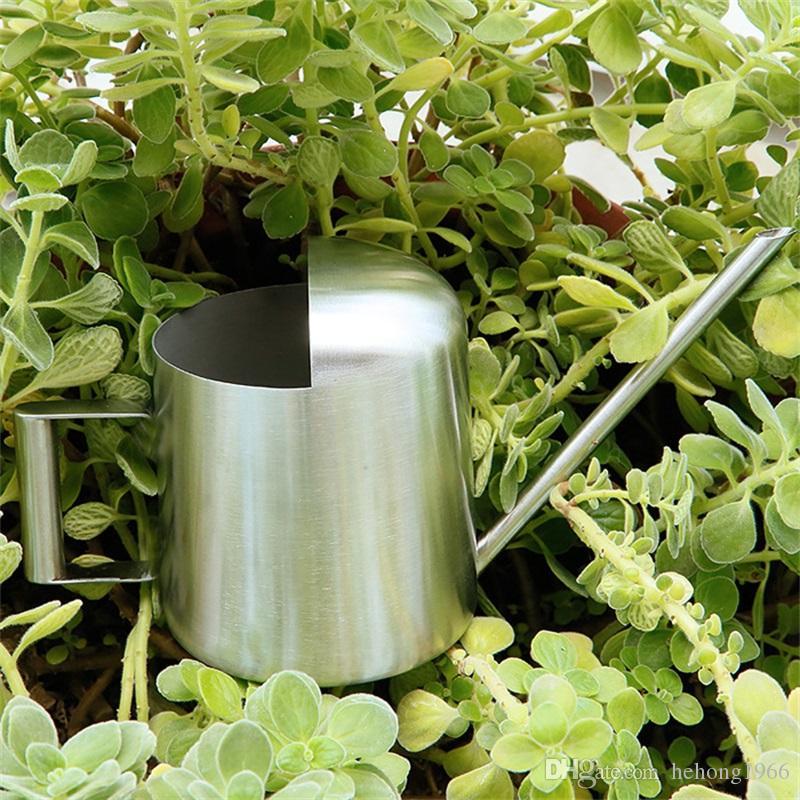 300 ml Edelstahl Lange Auslauf Gießkannen Für Haushalt Garten Grüne Pflanzen Topf Qualität Einfache Design Moderne Töpfe Ausrüstungen 26 sh Z