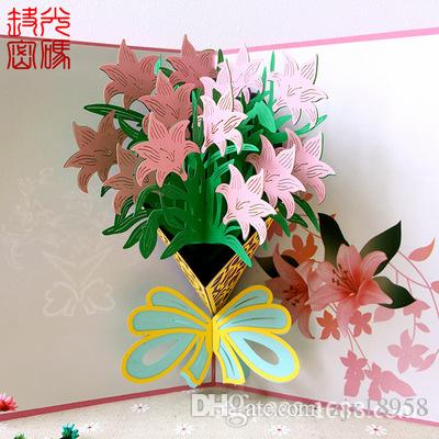 Bai Baihe Stereo Card Creative Birthday Gift Girlfriend Diy Scenic