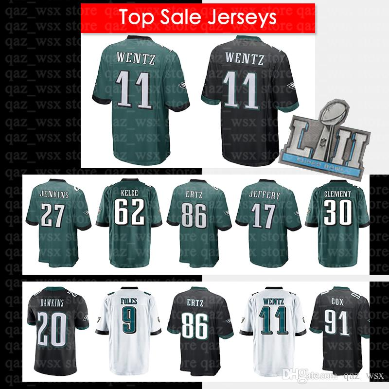 reputable site 11b67 482d3 11 Carson Wentz Jersey Philadelphia Eagles 86 Zach Ertz Super Bowl 17  Alshon Jeffery 20 Brian Dawkins 9 Nick Foles 20 Brian Dawkins