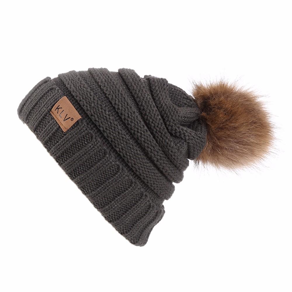 52dd42d2cb9 Men Women Baggy Warm Crochet Winter Wool Knit Ski Beanie Skull ...