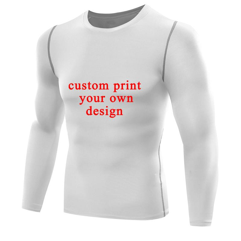 1da0e72f Customized Men T Shirt Print Your Own Design Men Compression Shirt Long  Sleeves Male Rashguards T Shirt Tops Personalized Jersey A Team Shirts Be T  Shirts ...