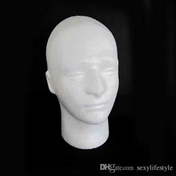 54 cm Umfang Männer PVC Schaufensterpuppe Männchen Kopf Modell für Cap Perücke Hut Display