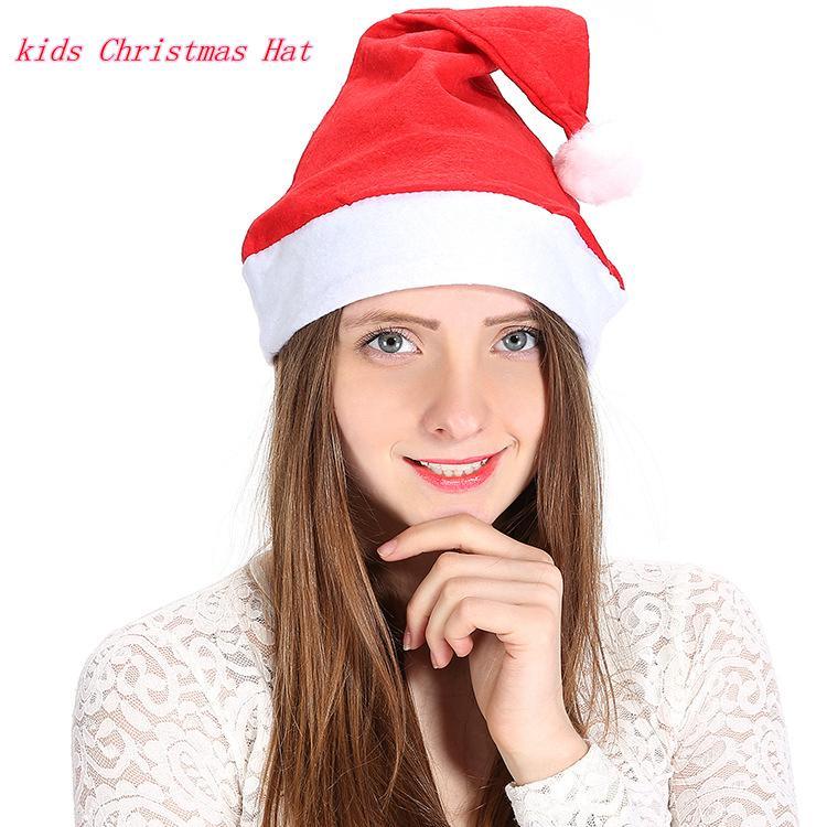dc28ddae8d69f Acheter Enfants Chapeau De Noël Cadeau Cap Tissus Non Tissés Fête Du Nouvel  An Rouge Père Noël Casquette De Costume Cosplay Décor Chapeau De Noël  Ffa784 De ...