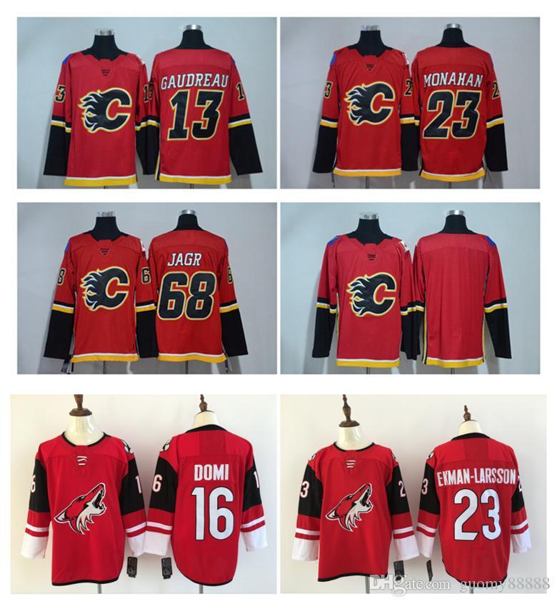 2017-18 Calgary Flames Jersey 13 Johnny Gaudreau 23 Sean Monahan 68 ... 417f8d745