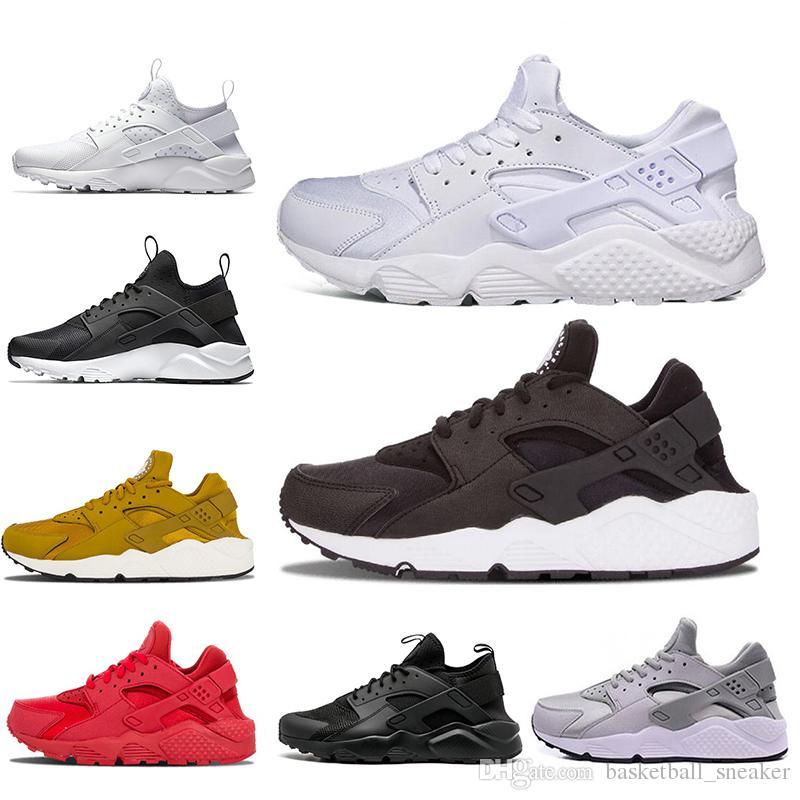 2d94564cb54a Wholesale Huarache 1.0 4.0 Running Shoes For Men Women Triple White ...