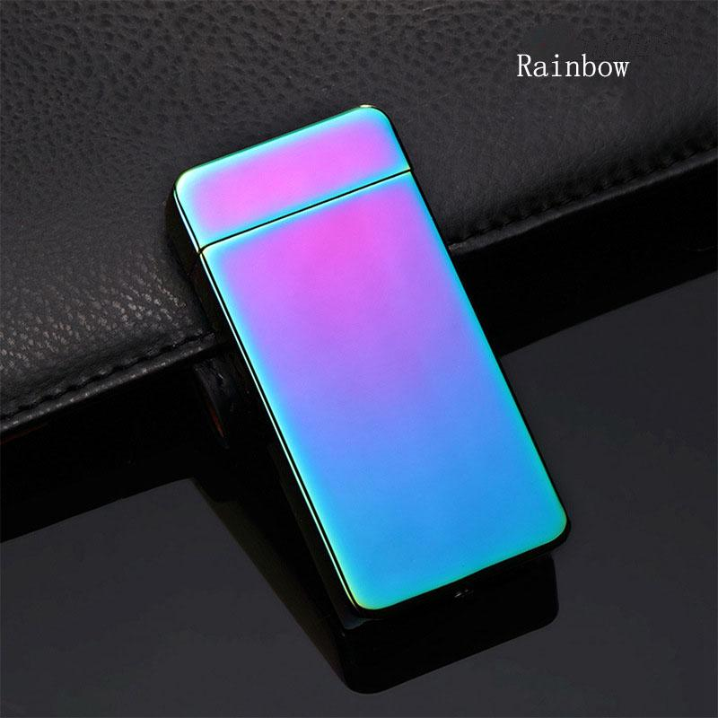 Hot sale Fashion and Hot Selling USB Electric Dual Arc Metal Flameless Torch Rechargeable Windproof Lighter