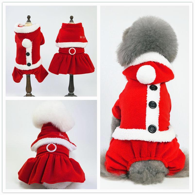 Vestiti Di Natale Per Cani.Vestiti Del Cane Di Natale Inverno Cane Vestito Tuta Natale Pet Vestiti Cucciolo Poodle Bichon Cani Abbigliamento Cappotto Party Pet Costume Apparel
