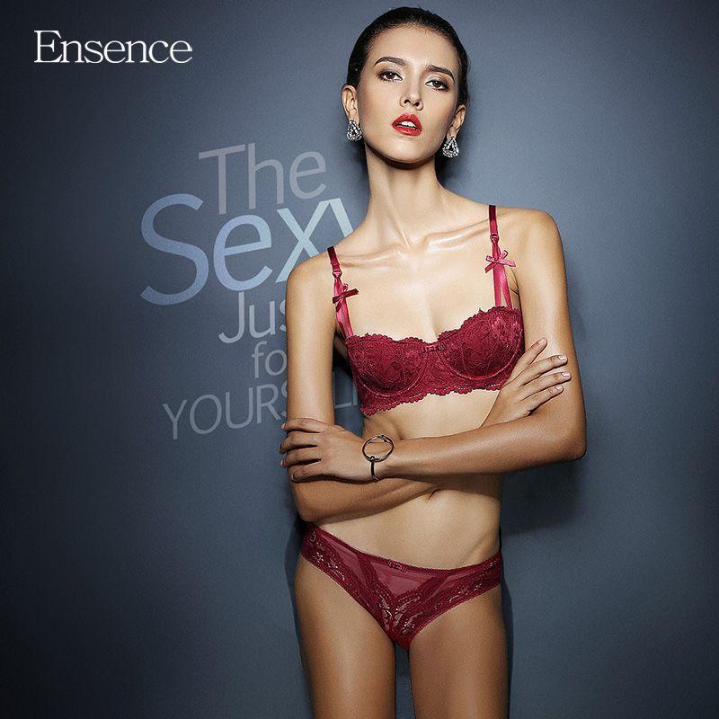 d30fc42d1f30 2019 Ensence Women Thin Style 1/2 Cup Vine Jacquard Lace Sexy Beauty ...