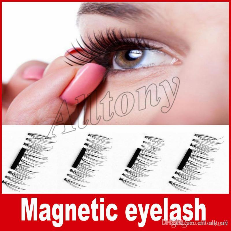 Magnetic Eyelashes 3d Synthetic Handmade Lashes No Glue Easy Remove