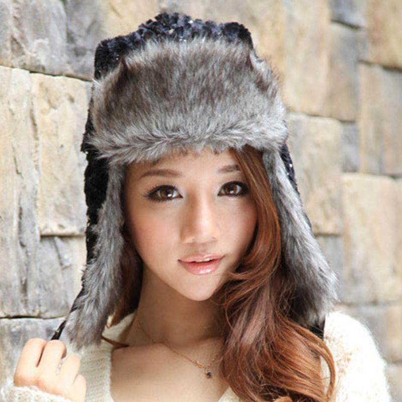 2018 New Faux Fur Winter Warm Russian Hat Russian Bomber Hats Trooper  Trapper Earflap Cap Snow Caps Sequin Bomber Cap UK 2019 From Fragmentt 97611e5db75