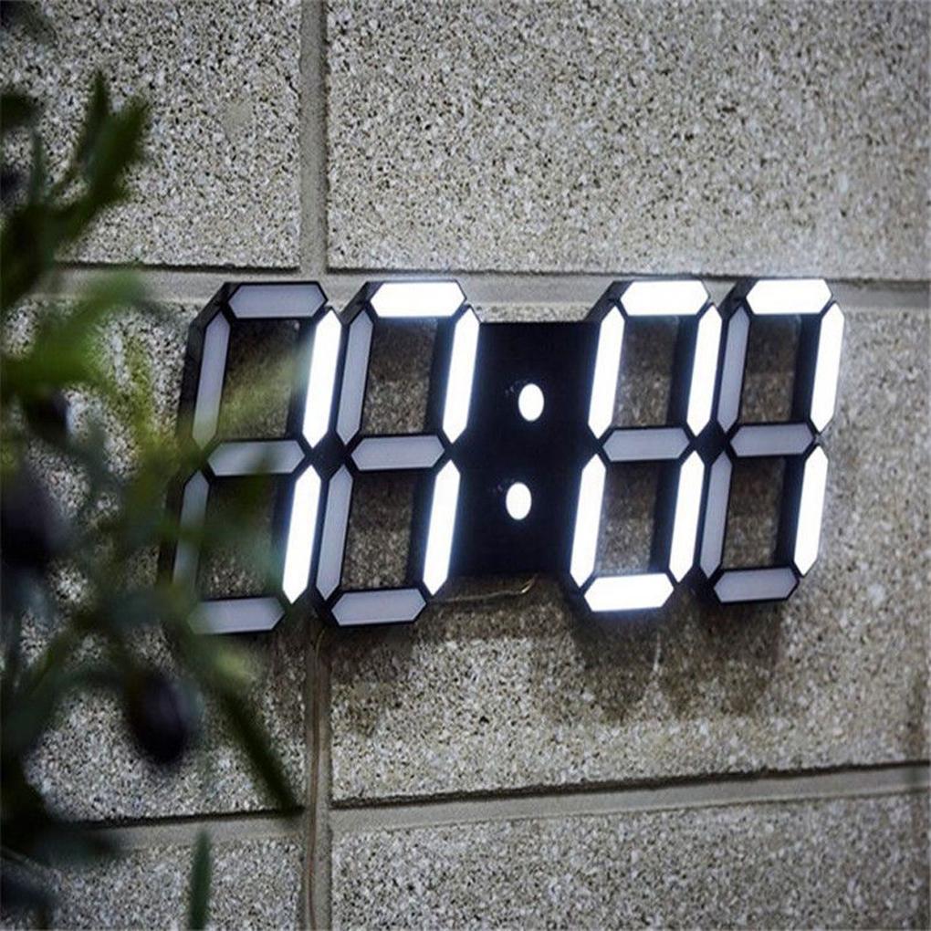 9cf86af5cfe Compre LED Retangular 3D Digital Relógio De Mesa Relógio De Alarme 24 Ou 12  Horas De Exibição De Decoração Para Casa Relógio De Parede De Natal