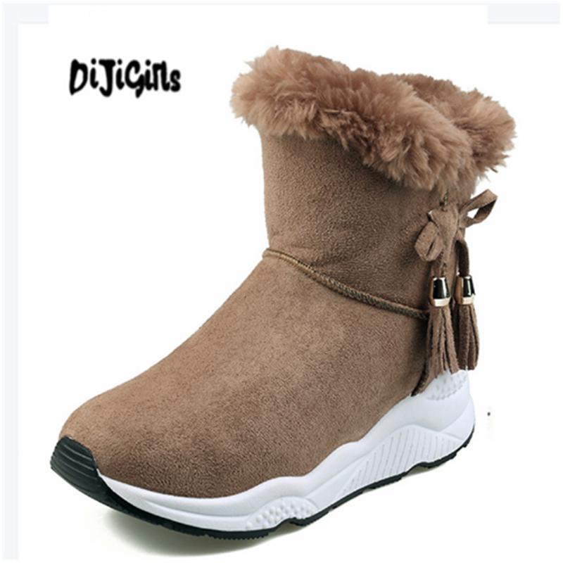 29d3b1c655f16 Wedge Ankle Boots Shoes Winter Fashion Platform Snow Boots Shoes ...