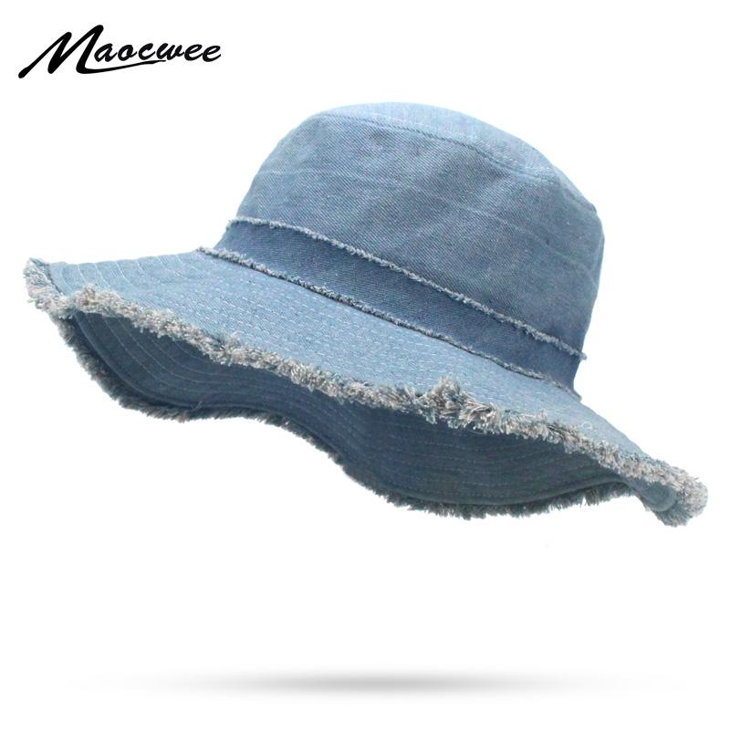 Womens Denim Bucket Hat Male Korean Style Casual Cowboy Fishing Caps  Fashionable Spring Summer Cool Jeans Tassel Sun Hats Fur Hats Men Hats From  Playnice f1b23b91b3f