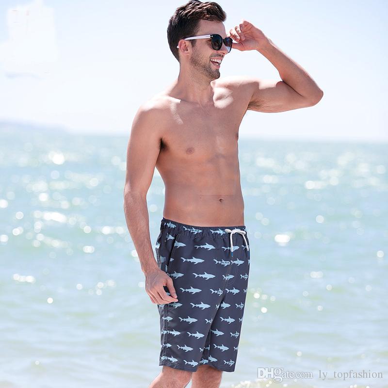 4230e702aa Shark Printing Men's Swimming Trunks for Bathing Men Beachwear ...