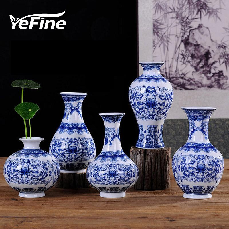 Yefine Vintage Home Decor Ceramic Flower Vases For Homes Antique