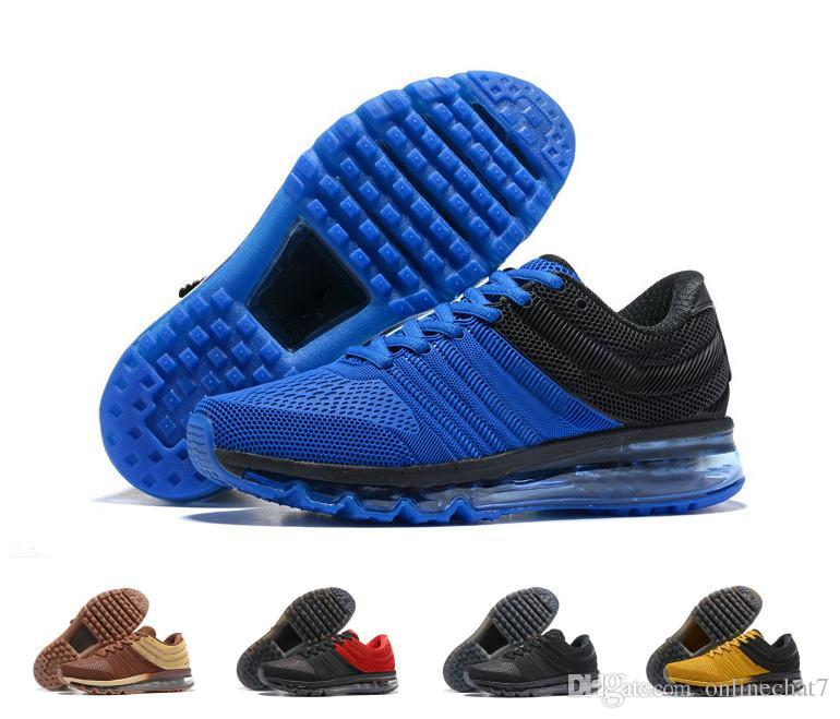 new concept e7fb6 5acdb ... azul blanco para b7676 9fd8a  new style compre nike air max 2017 nuevo  diseñador 2017 zapatos corrientes ocasionales de los hombres