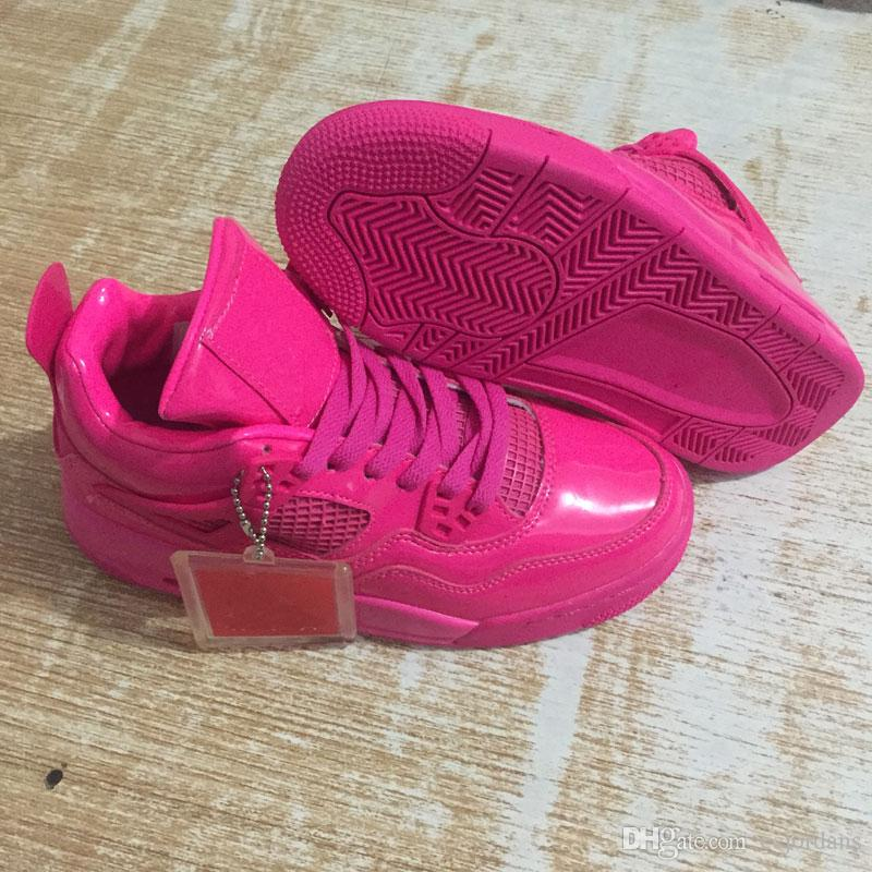2018 4s Pink Patent Valentine S Day Women Basketball Shoes Iv 4 Pink