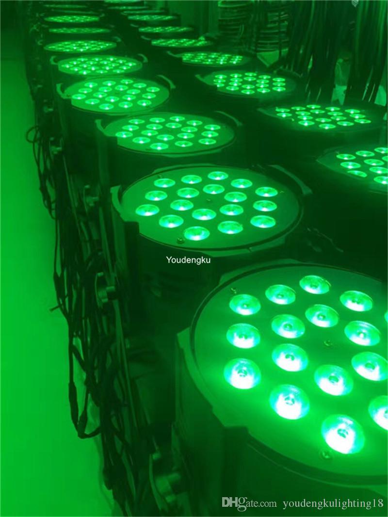2 stücke bühnenbeleuchtung verwendet 18 stücke 6 in 1 led par licht led par licht 18x18 w par led rgbwa uv