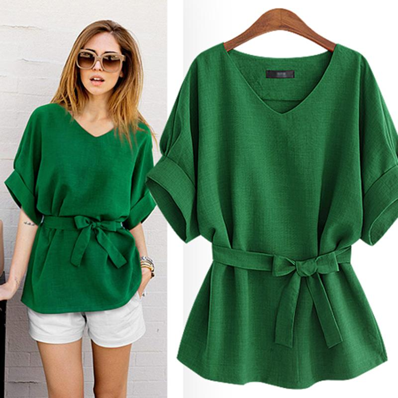 e4320b23f2b6 2019 Women S Blouse 2018 Shirt Blouses Linen Fashion Clothing 5XL Big Sizes Ladies  Stylish Tops Female Feminine Clothes Summer 125 From Lorsoul