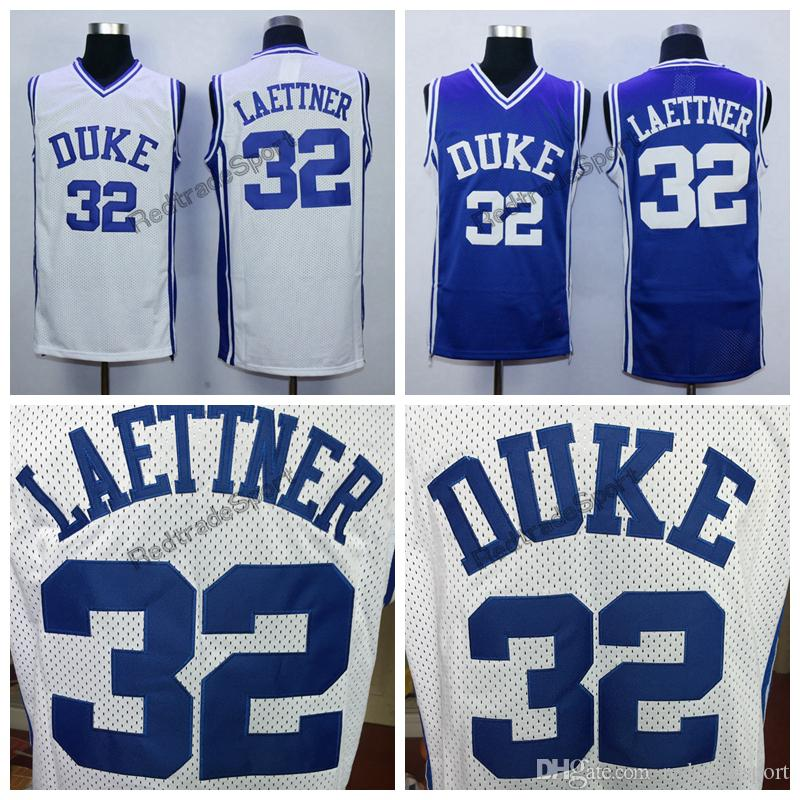 timeless design cb5aa 3fa5a Mens Vintage Duke Blue Devils Christian Laettner #32 College Basketball  Jersey Cheap V Blue Christian Laettner Stitched Basketball Shirts