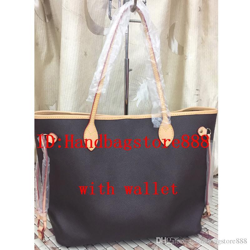 2 pçs / set alta qulity clássico Designer de bolsas das mulheres flor senhoras composto tote sacos de ombro de embreagem de couro PU bolsa feminina com carteira