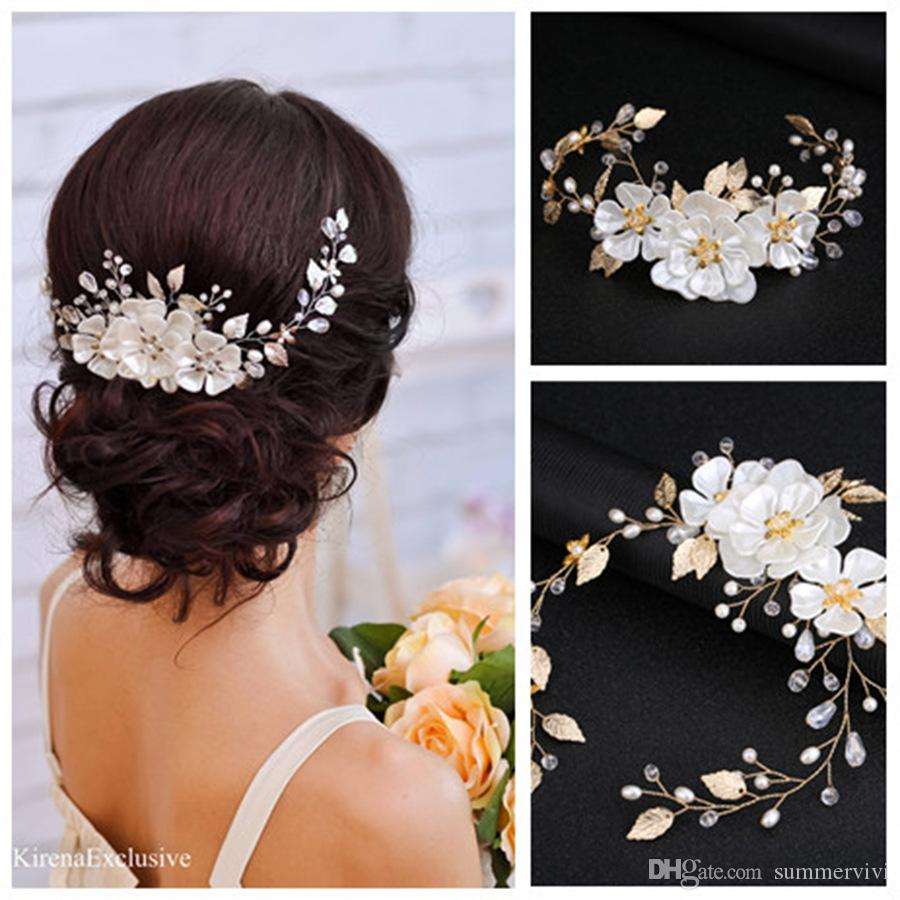 Trendy Gold Crystal Flower Headband Tiara For Women Hair Jewelry