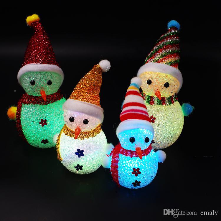Décoration de Noël Lumière émettant jouet poupée coloré Cadeau de Noël jouet décrochage vente ensemble en gros DHL Fedex Livraison gratuite
