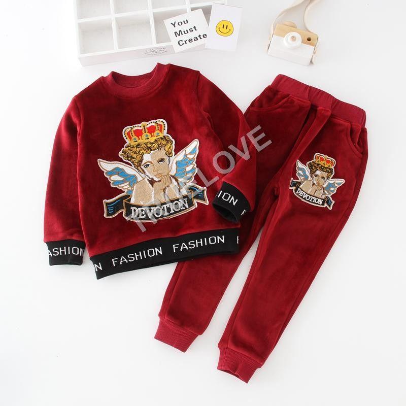 1774349a14f1 Kids Girls Boys Tracksuit Infant Girl Boy Cartoon Sweatshirt + Pants 2pcs  Sets Sport Suit 2018 Autumn Winter Children Clothing T70