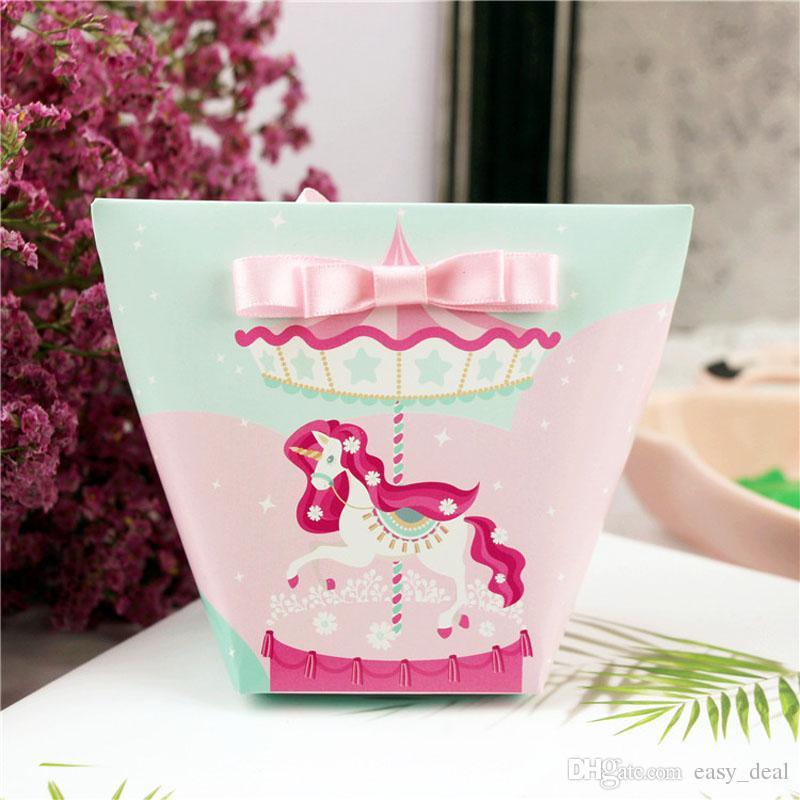 44bd6974e Compre Unicornio Flamingo Bolsas De Fiesta Cajas De Regalo De Papel  Decoraciones De Boda Caja De Dulces Baby Shower Bolsas De Regalo De  Cumpleaños ZA6934 A ...
