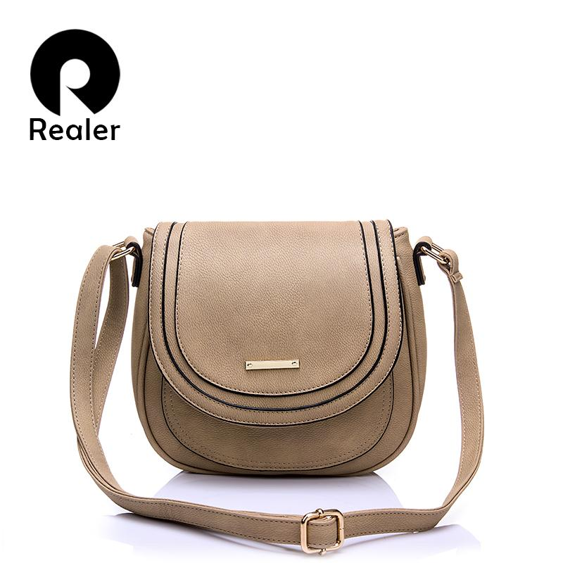 64ff468de872 Realer Woman Handbags Small Pu Leather Messenger Bags Women Shoulder  Crossbody Bag Fashion Totes Female Student Black Ladies Bag Y18102504  Clutch Bags ...
