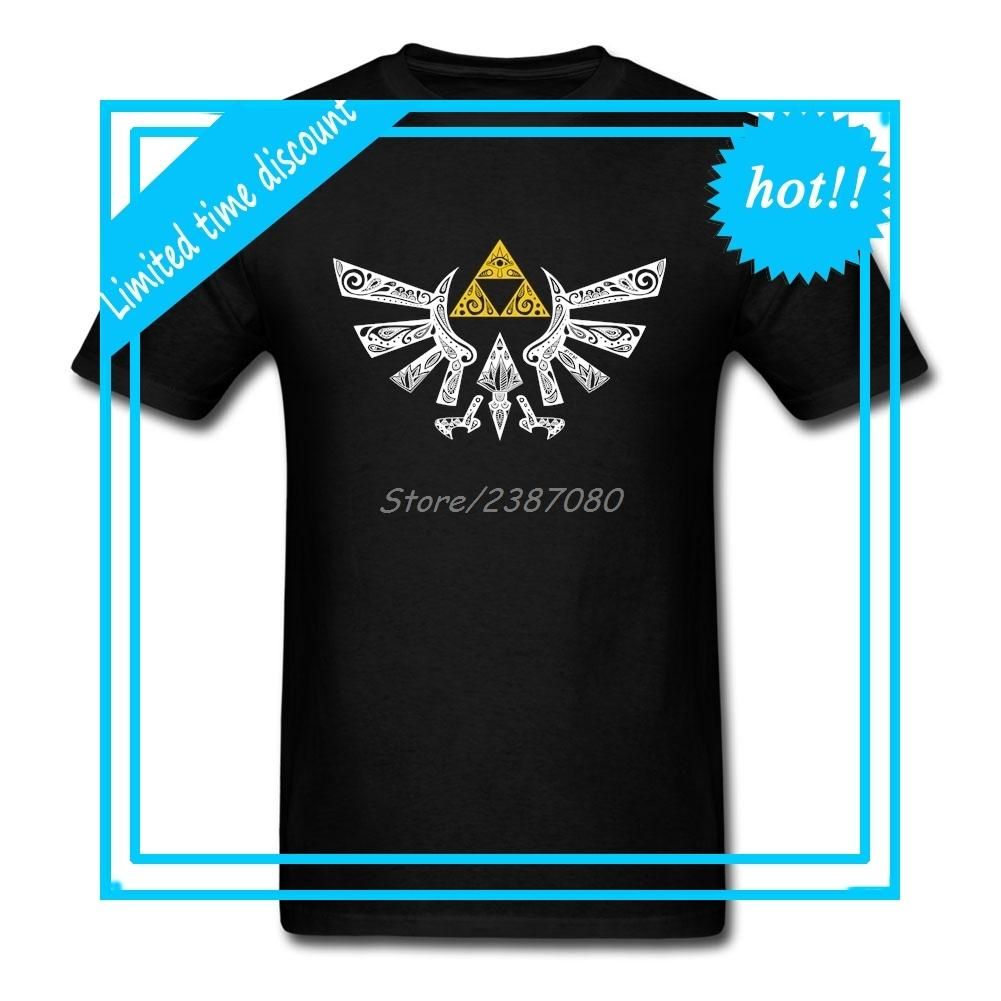 The Legend Of Zelda T Shirt Custom Short Sleeve T Shirt Men 2018 New