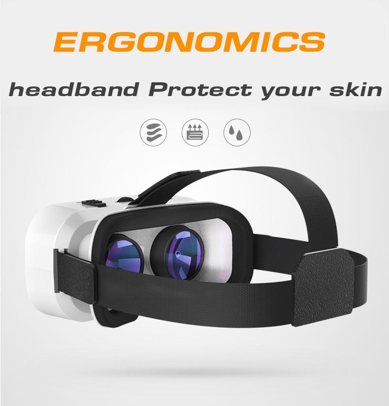 VR 5.0 Glasses Virtual Reality VR Box 3D Glasses For 4.7-6.0 inch Phone