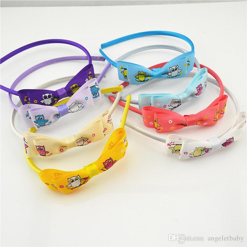 4978ca5ecef8e The Owl Bowknot Bonito Arcos Bebe Meninas Hairbands Headbands ...