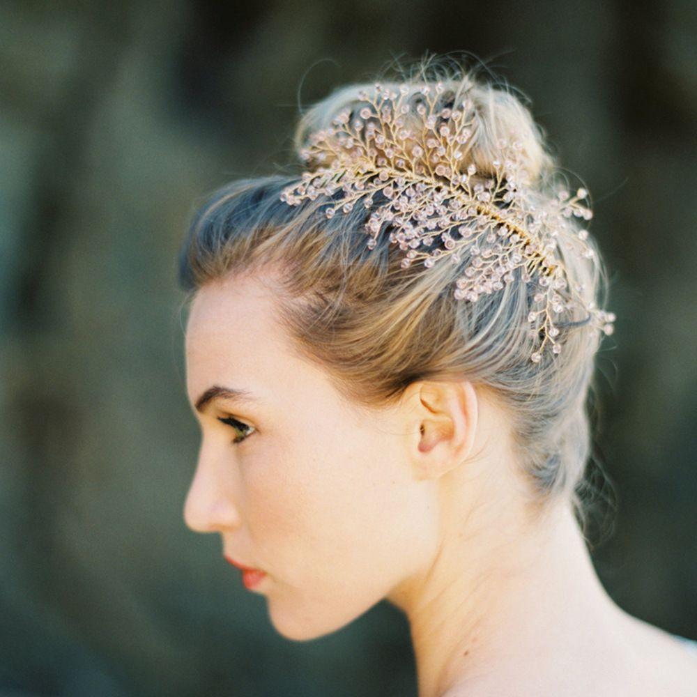 Country Wedding Hairstyles: 2018 Bridal Country Wedding Crystal Fascinators Elegant