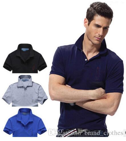 4caa1e97c Hot Sell New 2019 Crocodile Embroidery Polo Shirt Men Short Sleeve ...