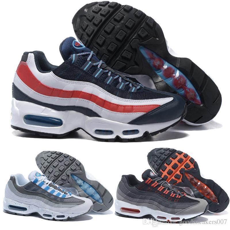 premium selection 1b918 8313c Acheter Nike Air Max Airmax En Gros Hommes Chaussures De Course Hommes  Coussin 95 Sneakers Bottes Authentique 2017 Nouveau Marche Discount Sports  Chaussures ...