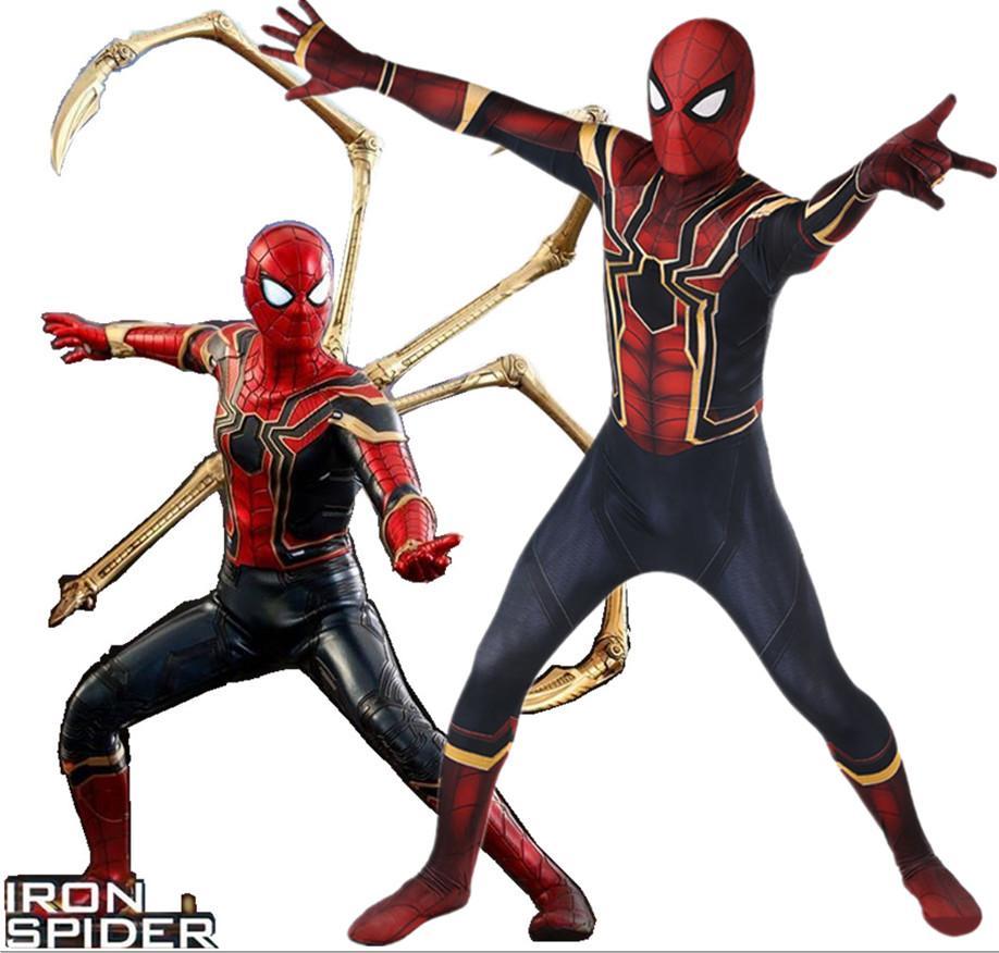 Acquista Avengers Infinity War Iron SpiderMan Costume 3D Original Movie  Costume Da Supereroe Fullbody Zentai Suit Hood Separated A  35.54 Dal  Hosiyoubi ... 288be4353c33