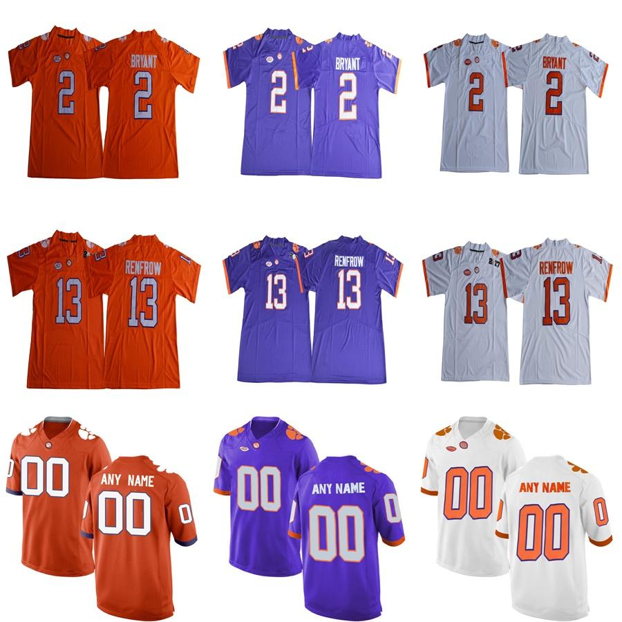 67c0ca498 2019 Custom Clemson Tigers Limited White Purple Orange Personalized  Stitched Any Name Number 2 13 9 Etienne Watson College Football Jerseys S  6XL From Since ...