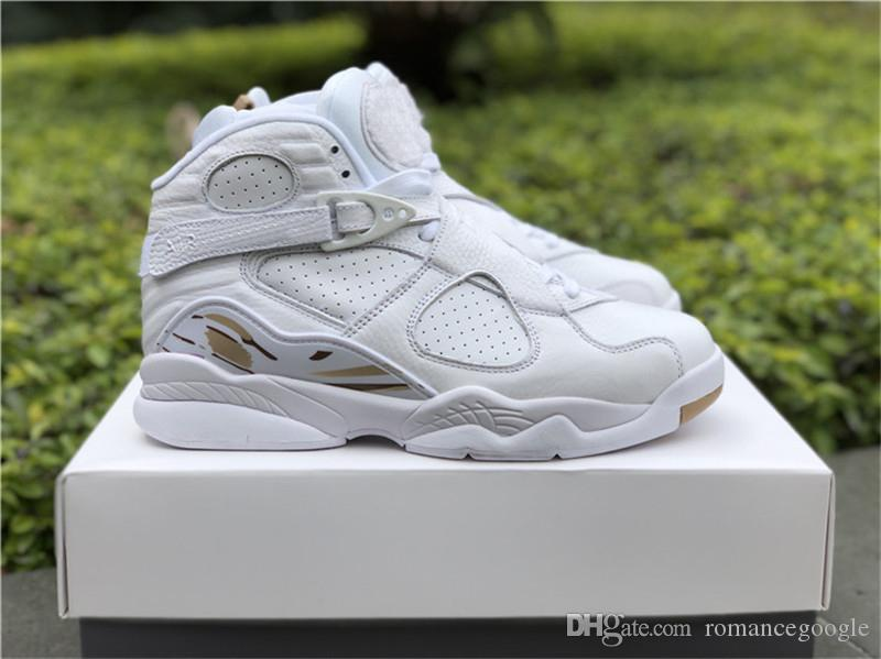 5098d8563427 2019 2018 Air Retro 8 OVO White Basketball Shoes For Men Brand 8S OVO Black  Authentic Sports Sneakers AA1239 135 AA1239 045 With Original Box From ...