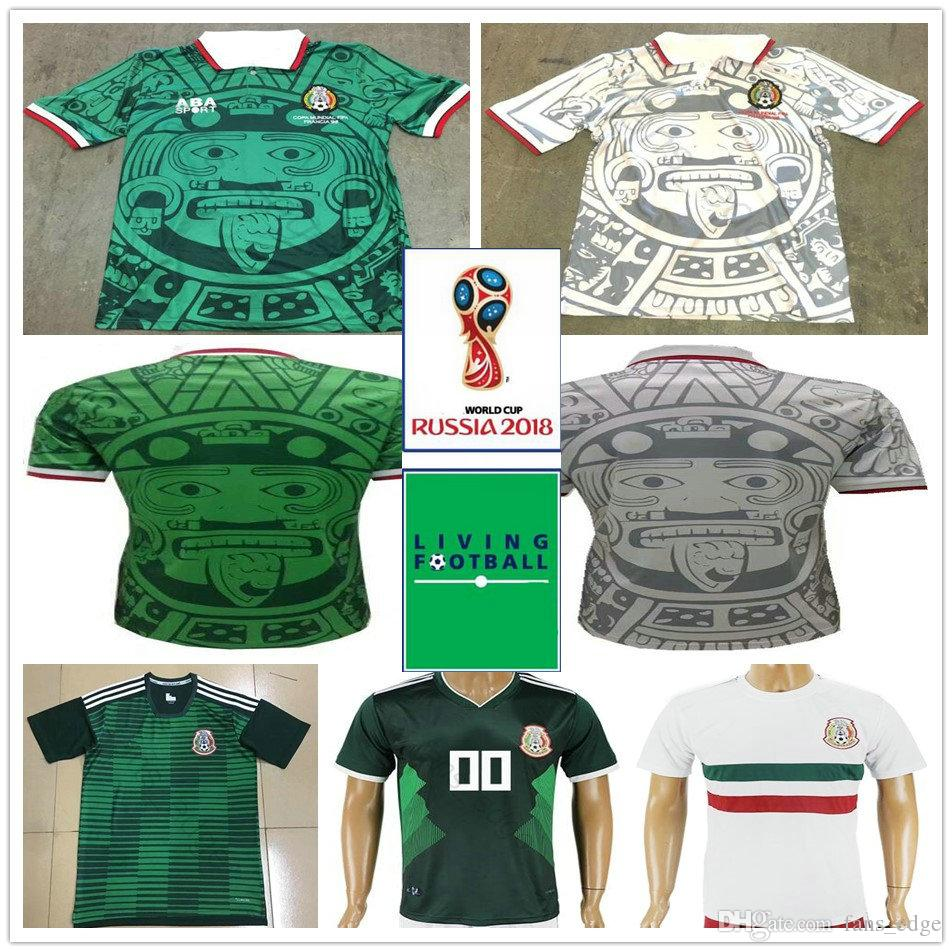 edc4b8e77 2019 1998 Mexico World Cup Classic Vintage Retro Jersey Campos Hernandez  BLANCO Custom Home Green White Mexico Football Shirt Camiseta Futbol From  ...